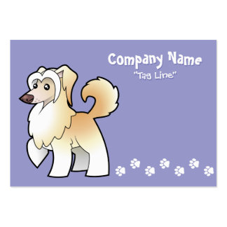 Cartoon Chinese Crested (powderpuff) Large Business Cards (Pack Of 100)