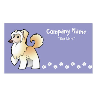 Cartoon Chinese Crested (powderpuff) Double-Sided Standard Business Cards (Pack Of 100)