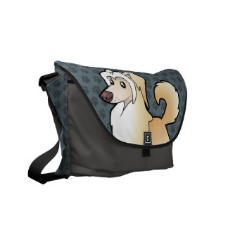 Cartoon Chinese Crested (powderpuff) Messenger Bags
