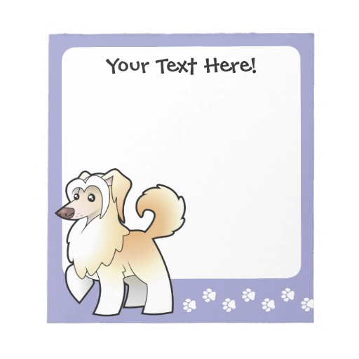 Cartoon Chinese Crested (powderpuff) Notepads