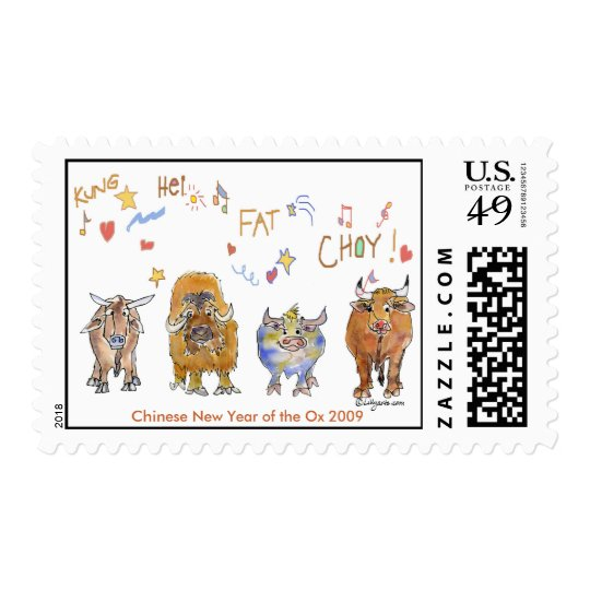 Cartoon Chinese New Year Ox Postage
