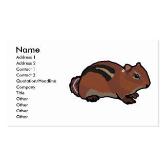 Cartoon Chipmunk Design Business Card Template