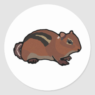 Cartoon Chipmunk Design Classic Round Sticker