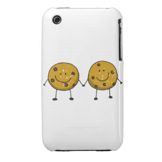 cartoon chocolate chip cookie best friends iPhone 3 covers