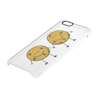 cartoon chocolate chip cookie best friends clear iPhone 6/6S case