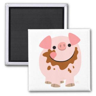 Cartoon Chocolate Pig magnet