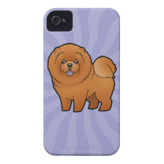 Cartoon Chow Chow Case-Mate iPhone 4 Case