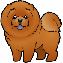 Cartoon Chow Chow Cutout