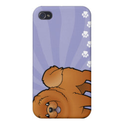 Case Savvy iPhone 4 Matte Finish Case with Chow Chow Phone Cases design