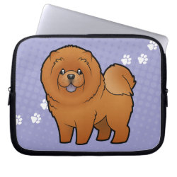 Neoprene Laptop Sleeve 10 inch with Chow Chow Phone Cases design