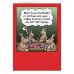 Cartoon Christmas Card: Reindeer Games