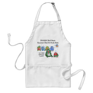 Cartoon Christmas Kiwi Funny Chefs Adult Apron
