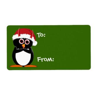 Cartoon Christmas Labels - Large