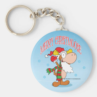 Cartoon Christmas Moose Key Chain
