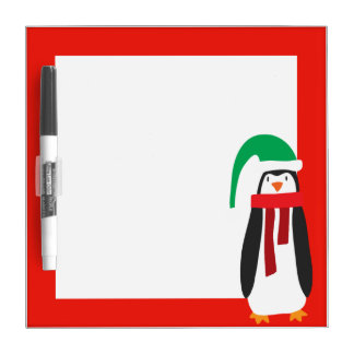 Cartoon Christmas Penguin Dry-Erase Whiteboard