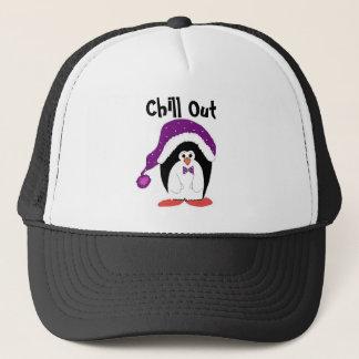 Cartoon Christmas Penguin Trucker Hat