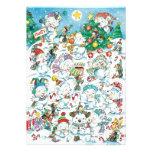 Cartoon Christmas Polar Bear Party Announcements