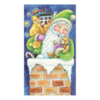Cartoon Christmas Santa Claus, Toys Chimney Snow Double-Sided Standard Business Cards (Pack Of 100)