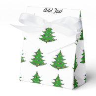 Cartoon Christmas Tree Favor Box