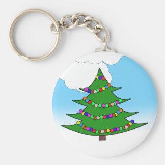 Cartoon Christmas Tree Keychain