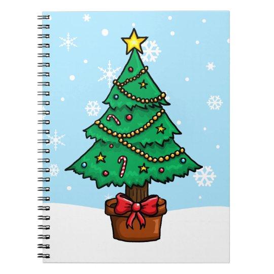 Cartoon Christmas Tree Notebook