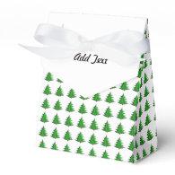 Cartoon Christmas Tree Pattern Party Favor Box