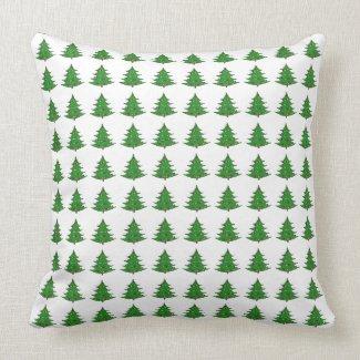 Cartoon Christmas Tree Pattern Throw Pillows