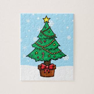 Cartoon Christmas Tree Puzzle