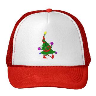 Cartoon Christmas Tree Walking Trucker Hat