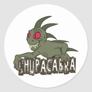 Cartoon Chupacabra Classic Round Sticker