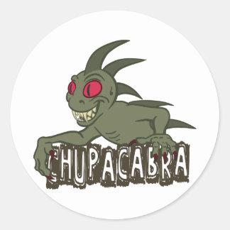 Cartoon Chupacabra Classic Round Sticker
