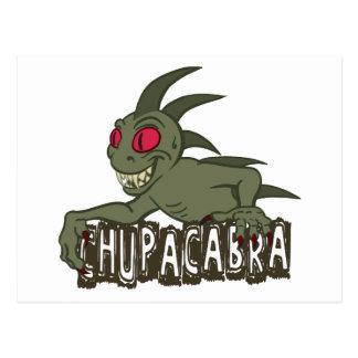 Cartoon Chupacabra Postcard