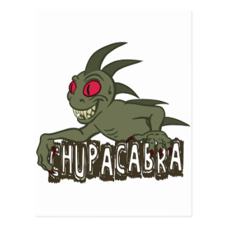Cartoon Chupacabra Postcard