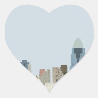 Cartoon Cincinnati Heart Sticker