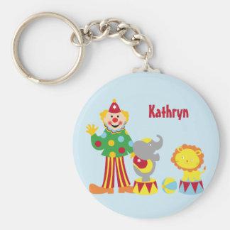 Cartoon Circus Clown and Animals Keychain