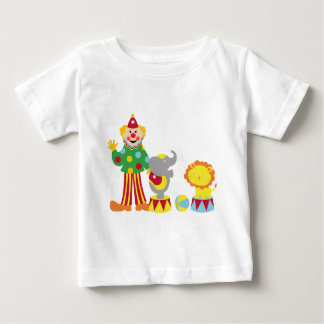 Cartoon Circus Clown and Animals T-Shirt