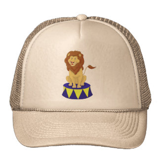 Cartoon Circus Lion Trucker Hat