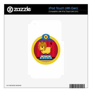 Cartoon Circus Lion on Podium Decal For iPod Touch 4G
