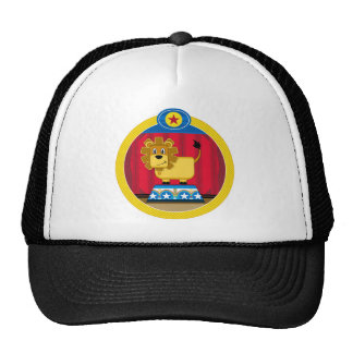 Cartoon Circus Lion on Podium Trucker Hat