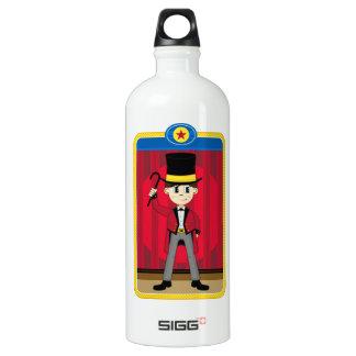 Cartoon Circus Ringmaster Aluminum Water Bottle