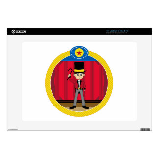 "Cartoon Circus Ringmaster Decals For 15"" Laptops"