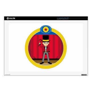 "Cartoon Circus Ringmaster Decals For 17"" Laptops"