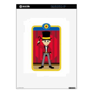 Cartoon Circus Ringmaster Decals For The iPad 2