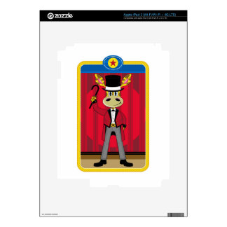 Cartoon Circus Ringmaster Giraffe Skin For iPad 3
