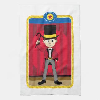 Cartoon Circus Ringmaster Kitchen Towel
