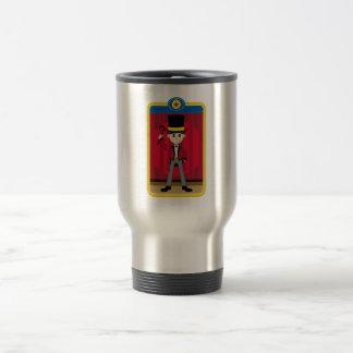 Cartoon Circus Ringmaster 15 Oz Stainless Steel Travel Mug
