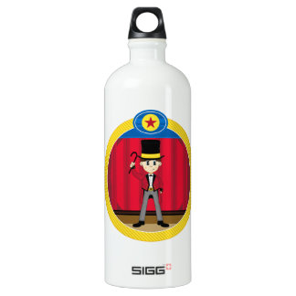 Cartoon Circus Ringmaster Water Bottle