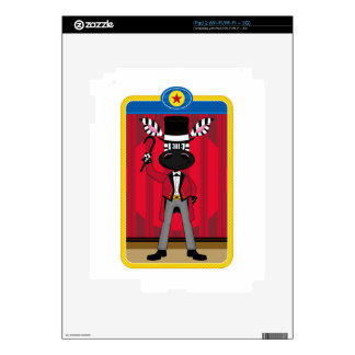 Cartoon Circus Ringmaster Zebra Decals For iPad 2