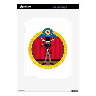 Cartoon Circus Ringmaster Zebra iPad 2 Decal