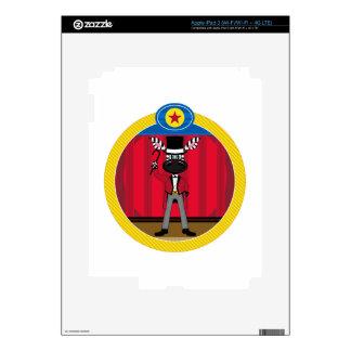 Cartoon Circus Ringmaster Zebra Skins For iPad 3